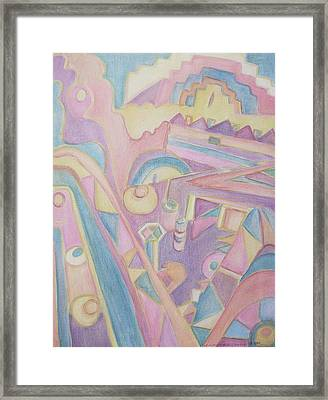 18th Century Greek Church Abstract Framed Print by Suzanne  Marie Leclair