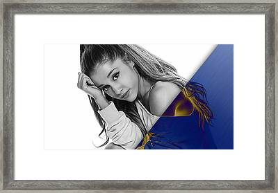 Ariana Grande Collection Framed Print by Marvin Blaine