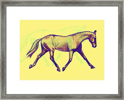 Lengthen Trot Deco Art Framed Print by JAMART Photography