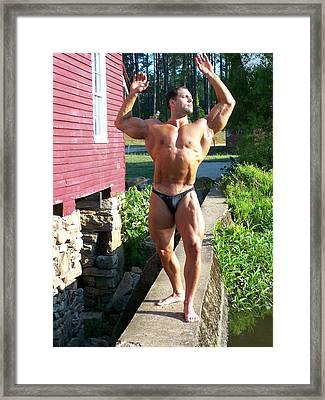 Male Muscle Art Framed Print