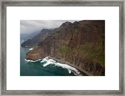 Na Pali Coastline Framed Print by Steven Lapkin