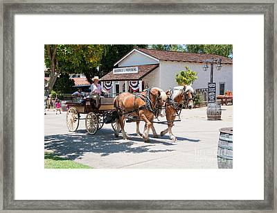 Old Town San Diego Framed Print by Carol Ailles