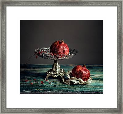 Pomegranate Framed Print by Nailia Schwarz