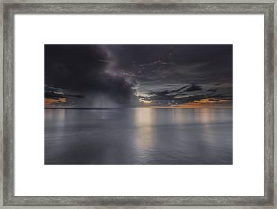 Sunst Over The Ocean Framed Print