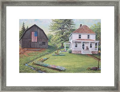1900 4th Of July Framed Print by Diana Miller