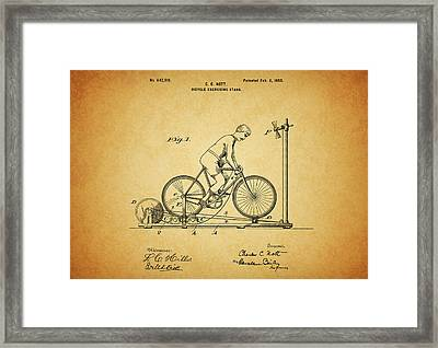 1900 Bicycle Exercise Stand Framed Print by Dan Sproul