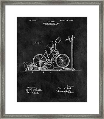 1900 Exercise Bike Patent Framed Print by Dan Sproul