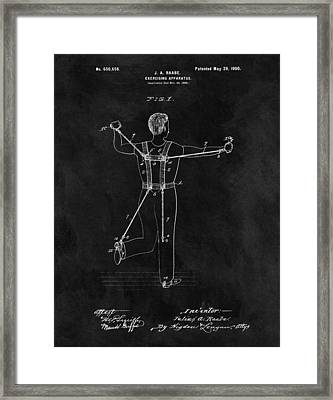 1900 Exercise Equipment Patent Framed Print by Dan Sproul