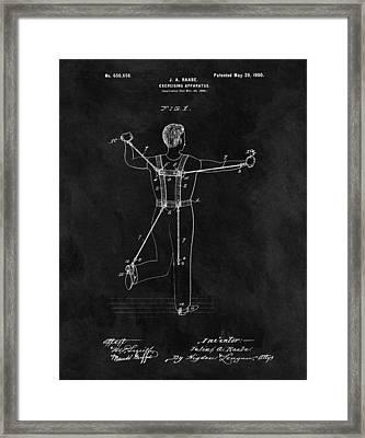 1900 Exercise Equipment Patent Framed Print