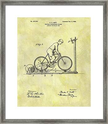 1900 Exercising Bicycle Patent Framed Print
