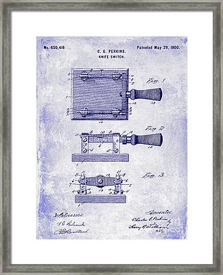 1900 Knife Switch Patent Blueprint Framed Print