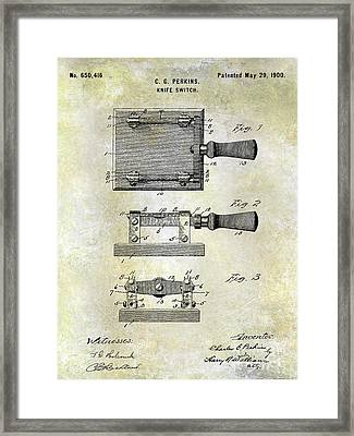 1900 Knife Switch Patent Framed Print