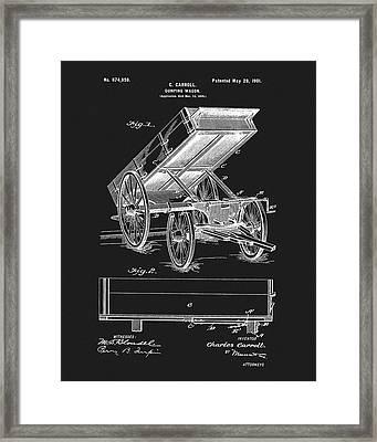 1901 Dumping Wagon Patent Framed Print