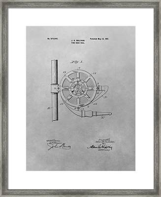 1901 Fire Hose Patent Framed Print by Dan Sproul