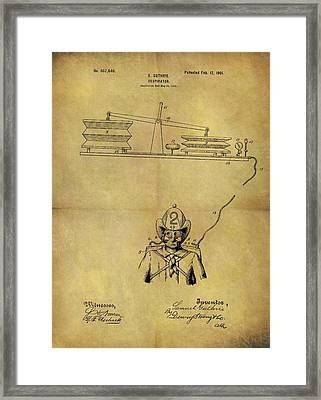 1901 Fireman Respirator Patent Framed Print by Dan Sproul