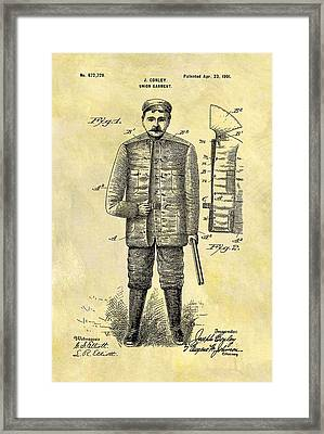 1901 Hunting Jacket Patent Framed Print by Dan Sproul