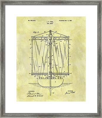 1901 Sailboat Patent Framed Print