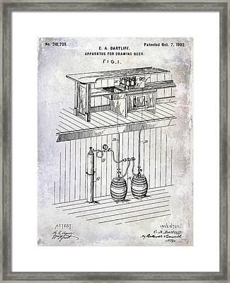 1902 Beer Draft Patent Framed Print