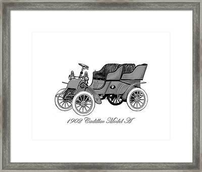 1902 Cadillac Model A  Framed Print by Jack Pumphrey