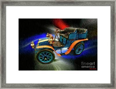 1902 Delahayetype Oa Rear Entry Tonneau Framed Print