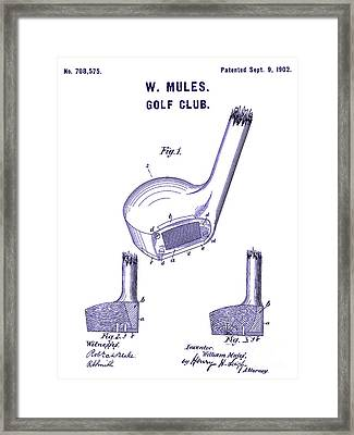 1902 Golf Club Patent Blueprint Framed Print by Jon Neidert