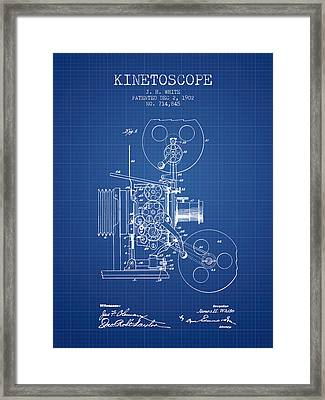 1902 Kinetoscope Patent - Blueprint Framed Print