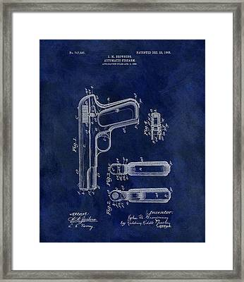 1903 Automatic Firearm Patent Framed Print by Dan Sproul