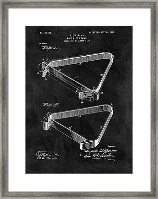 1903 Billiards Frame Patent Framed Print by Dan Sproul
