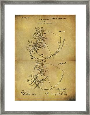 1903 Bridle Patent Framed Print by Dan Sproul