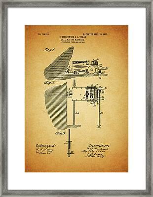 1903 Coal Mining Machine Framed Print
