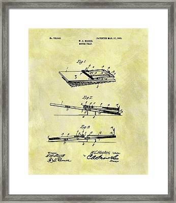 1903 Mouse Trap Patent Framed Print