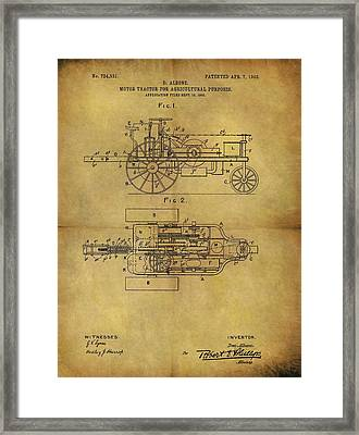 1903 Tractor Patent Framed Print by Dan Sproul