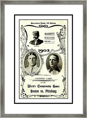 1903 World Series Poster Framed Print