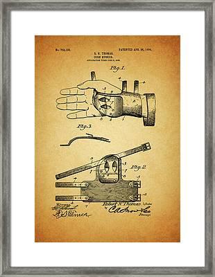 1904 Corn Husker Patent Framed Print