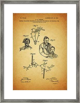 1904 Dental Forceps Patent Framed Print