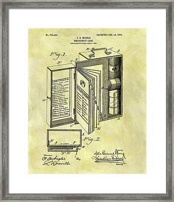 1904 Emergency Case Patent Framed Print