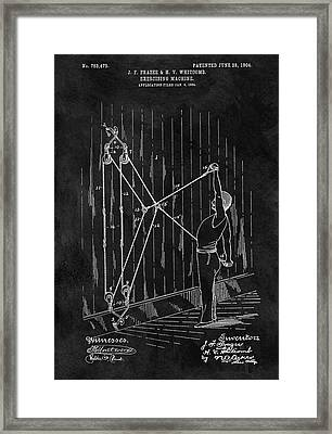 1904 Exercise Apparatus Patent Framed Print by Dan Sproul