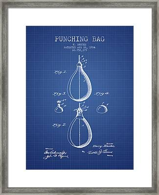 1904 Punching Bag Patent Spbx12_bp Framed Print