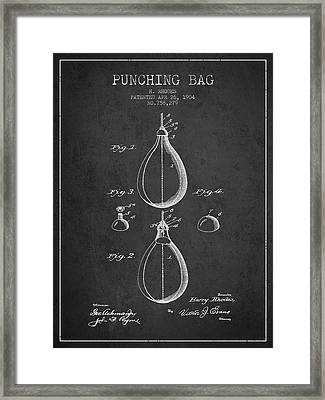 1904 Punching Bag Patent Spbx12_cg Framed Print