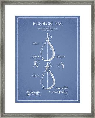 1904 Punching Bag Patent Spbx12_lb Framed Print
