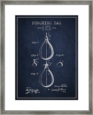 1904 Punching Bag Patent Spbx12_nb Framed Print