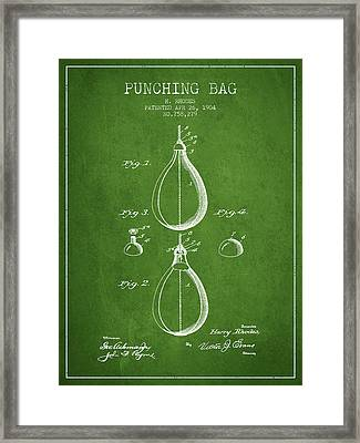 1904 Punching Bag Patent Spbx12_pg Framed Print