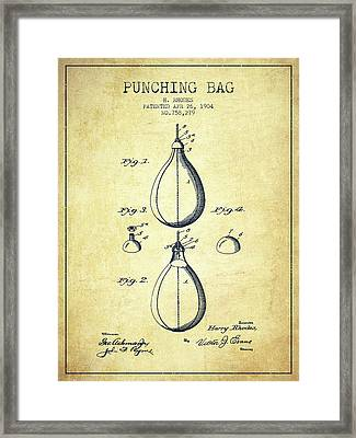 1904 Punching Bag Patent Spbx12_vn Framed Print