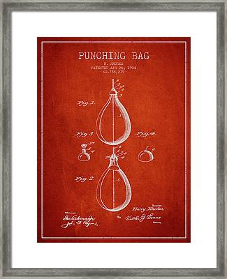 1904 Punching Bag Patent Spbx12_vr Framed Print