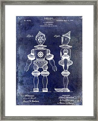 1904 Toy Patent Drawing Blue Framed Print