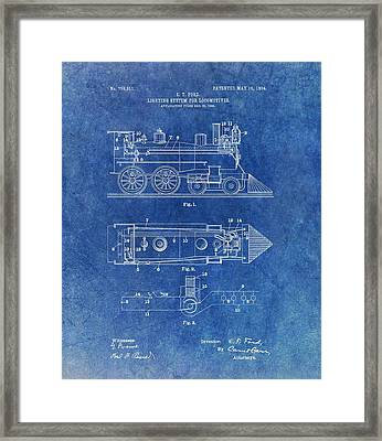 1904 Train Patent Framed Print by Dan Sproul