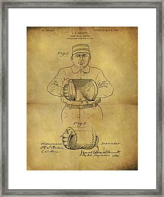 1905 Baseball Glove Patent Framed Print