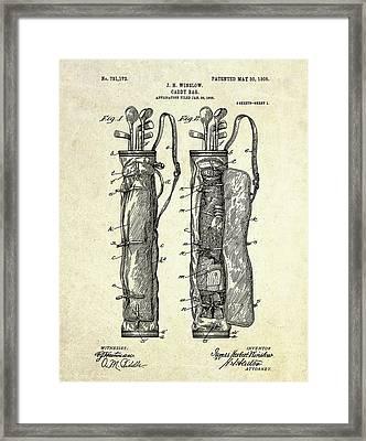 1905 Caddy Bag Patent Art S.1 Framed Print