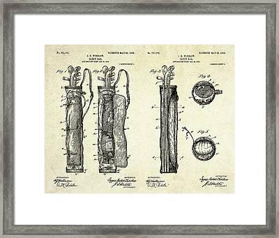 1905 Caddy Bag Patent Art Sheets Framed Print