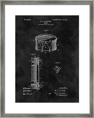 1905 Drum Patent Illustration Framed Print